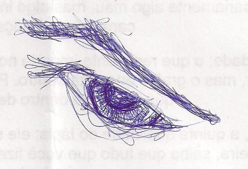 Rabiscos - Olhos 1 - Esferográfica azul sobre papel - 2010